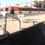 Fuga de agua ocasiona socavón en zona turística de Ensenada