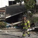 Colapsa vivienda por explosión de gas en Tijuana