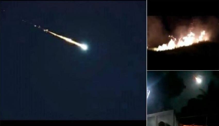 Videos del supuesto meteorito avistado en Venezuela