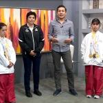 Atletas ganadoras de medalla de oro en los juegos mundiales de Special Olympics