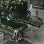 Lunático suelta a su pitbull para que ataque a dos personas