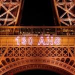 Celebra la Torre Eiffel sus 130 años con espectáculo nocturno