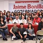 Llama Bonilla a jóvenes a votar por el futuro de B. C.