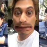 Policías lo multan por no traer licencia y los convierte en memes