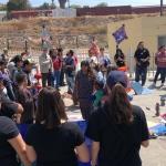 Cruza fronteras marcha por la Paz y No Violencia