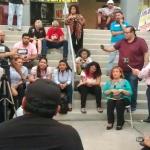 Presentarán manifestantes pliego petitorio a integrantes de la próxima legislatura