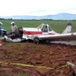 Dos lesionados, tras desplome de avioneta en Chihuahua