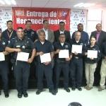 Reconoce Canaco en Ensenada a policías destacados