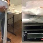 Detienen a pasajero con heroína adherida a la espalda en aeropuerto de Tijuana