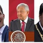 "AMLO ofrece ""diálogo pacífico"" a Maduro y Guaidó en México"