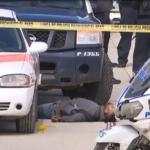 Policía municipal abate a un hombre que agredió a oficiales con un machete