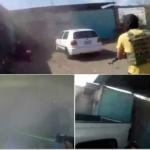 Sicarios graban ataque armado en vulcanizadora de Guanajuato