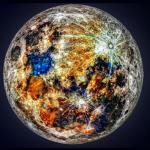 Así son los colores ocultos de la Luna