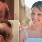 Se quedó sin cabello luego de planear su boda