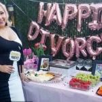 Mujer hace fiesta para celebrar en grande su divorcio