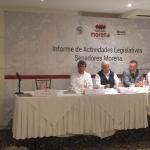 Presentan senadores morenistas proyectos de Ley