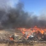 Incendio en basurero de Fundadores está siendo controlado