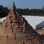Castillo gigante de arena rompe récord Guinness en Alemania