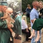 Padre e hija recrean foto de graduación en Texas