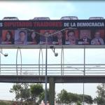 """""""Exhibe"""" Coparmex a diputados """"traidores""""; retiran cartelera a las horas"""