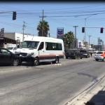 Chofer de transporte público lesionado por arma de fuego