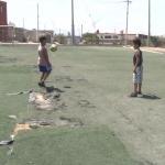 En pésimas condiciones, cancha de futbol en Ensenada