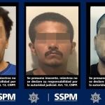 Policía Municipal asegura a tres narcomenudistas