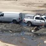 Hallazgo de torso humano sobre la canalización del Río Tijuana