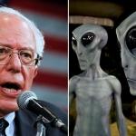 Promete Bernie Sanders revelar evidencia de vida extraterrestre