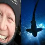 Abuelita salva a tiburón atrapado en un hilo de pesca