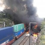 Caen saqueadores por choque de trenes en Hidalgo