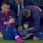 Focos rojos en el Barcelona, Messi sale lesionado