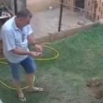 Provoca tremenda explosión en su patio