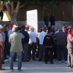 Protestan burócratas jubilados incumplimiento en el pago de sus pensiones