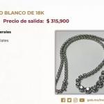 Habrá nueva subasta de joyas, autos y residencias en Los Pinos